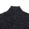 Jennings Button Mock Neck - Charcoal Marl