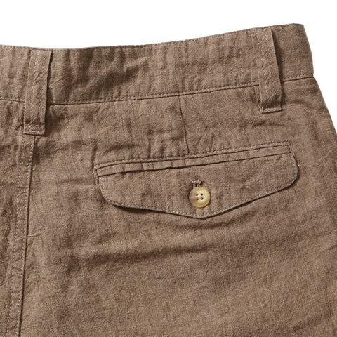 Aventura Washed Linen Shorts  - Tobacco