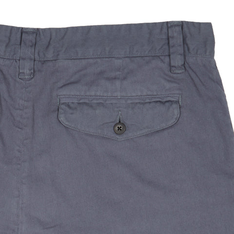 "Bermuda Stretch Cotton Linen Shorts 9"" - Grisaille-Grayers"