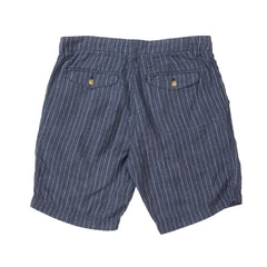 Aventura Washed Linen Shorts - Faded Indigo Stripe