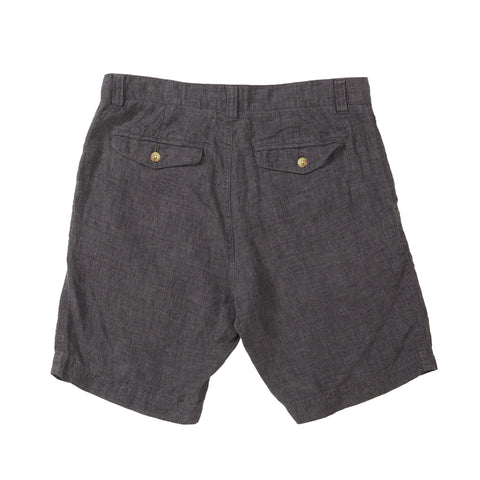 Aventura Washed Linen Shorts - Charcoal