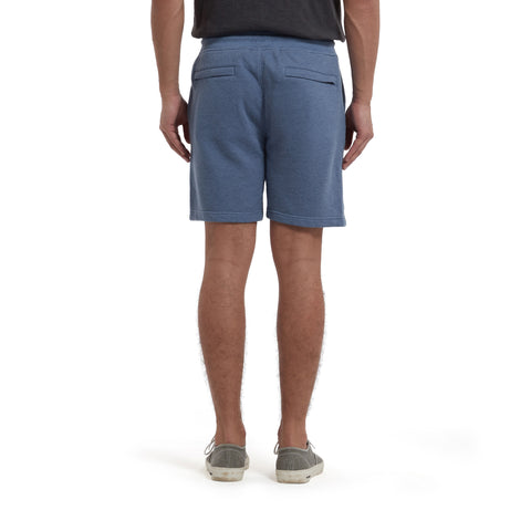 "Montague Terry Twill Drawcord Shorts 8"" - Blue Heather-Grayers"