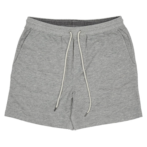 "Montague Terry Twill Drawcord Shorts 8"" - Gray Heather-Grayers"