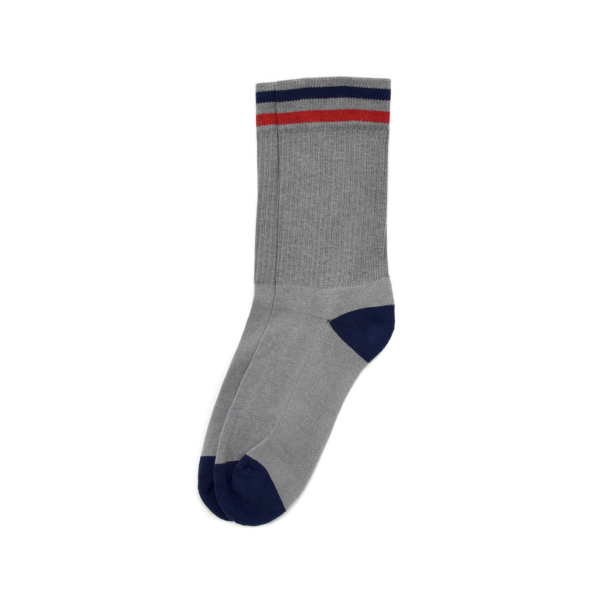 American Trench Kennedy Lux Athletic Sock - Grey/Navy/Red