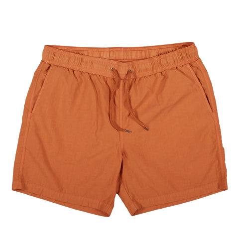 "Moorea Garment Dyed Draw Cord Swim Trunk 6"" - Arabesque Orange-Grayers"