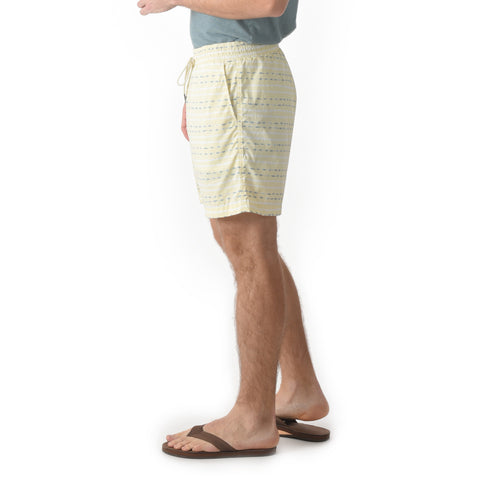 "Moorea Swim Trunk 6"" - Hockney Wave"