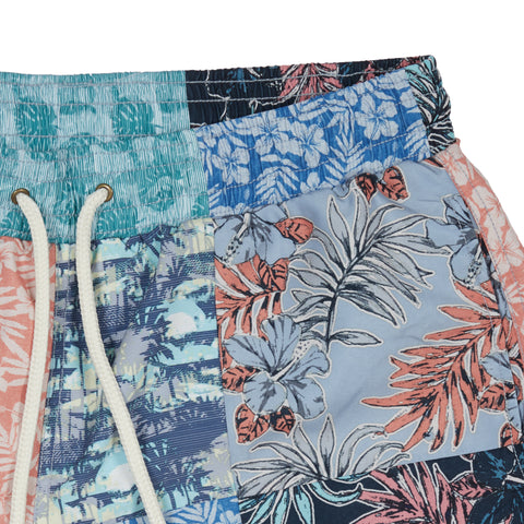 "Patchwork Swim Trunk 8"" - Patchwork-Grayers"
