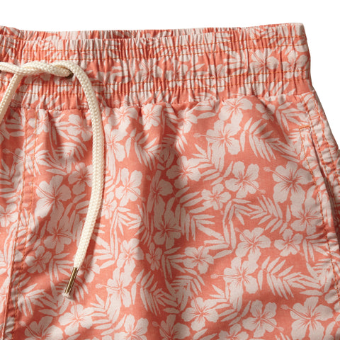 "Arabesque Leaf Swim Trunk 6"" - Arabesque Leaf Print-Grayers"