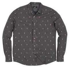 Dartmouth Printed Heather Flannel - Charcoal Pine Print-Grayers