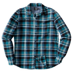 Evans 3 Ply Jaspe Flannel Shirt - Brittany Blue