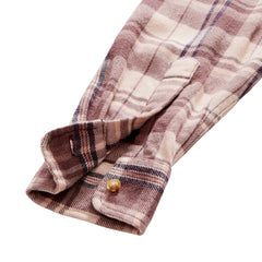 Evans 3 Ply Jaspe Flannel Shirt - Heavenly Pink