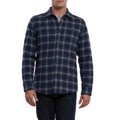Meade Special Edition Heritage Flannel - Navy Charcoal Plaid-Grayers