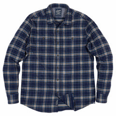 Meade Special Edition Heritage Flannel - Navy Charcoal Plaid