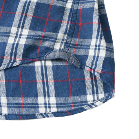 Stafford Slub Twill - Blue Cream Red Plaid