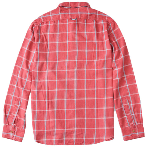 Sterling Slub Twill Shirt - Red Blue Windowpane