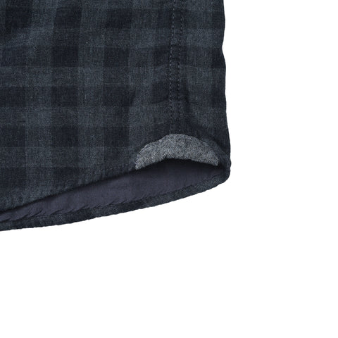 Parson Double Cloth - Charcoal Gray Gingham-Grayers