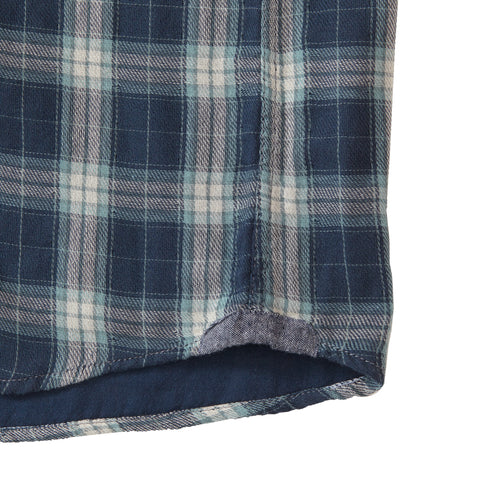 Stratford Double Cloth - Navy Seafoam Gray