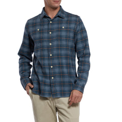 Nevill Heritage Flannel - Blue Orange Plaid-Grayers