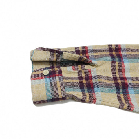 Lonsdale 3-Ply Jaspe Luxury Flannel - Khaki Teal Wine