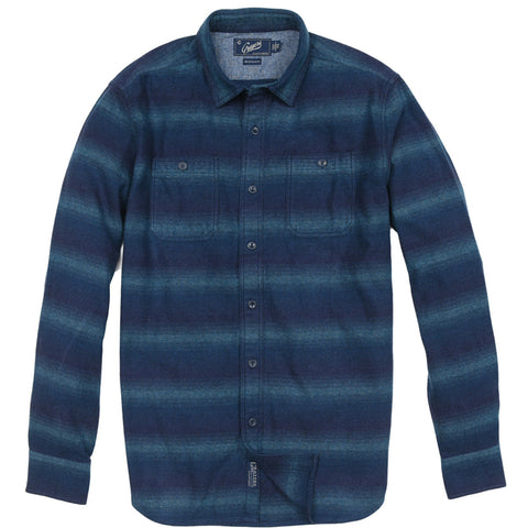 Boy's Slub Jersey Heather Henley - Blue Heather