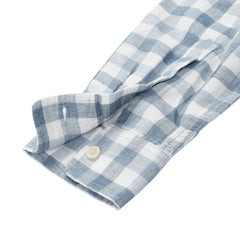 Denby Double Cloth Shirt - Heather Blue Cream Gingham-Grayers