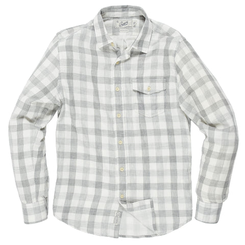 Billings Oxford Flannel - Gray Navy Plaid