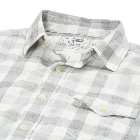 Durham Double Cloth Shirt - Heather Gray Gingham-Grayers