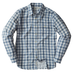 Denby Double Cloth Shirt - Heather Blue Cream Gingham