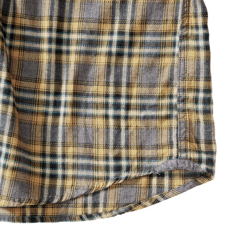 Winfield Slub Herringbone Twill Shirt - Burnished Gold Plaid