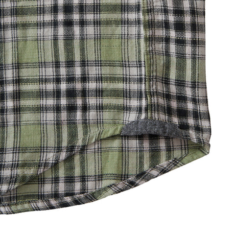 Winfield Slub Herringbone Twill Shirt - Green Plaid
