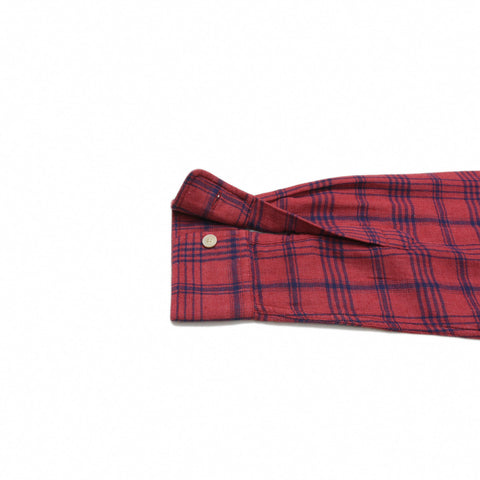 Caledon Double Cloth - Burnt Red Navy