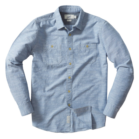 Riggs Vintage Oxford Workshirt - Faded Blue