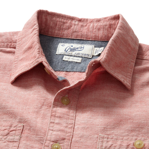 Riggs Vintage Oxford Workshirt - Chambray Red