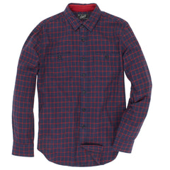 Country Flannel SMP- Heather Navy Red Windowpane
