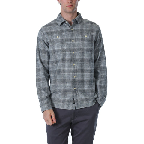 Charles Heritage Flannel - Gray Charcoal