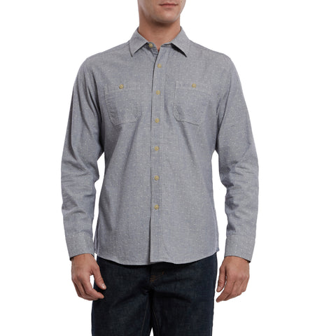 Hillwood Chambray Dobby Work Shirt - Blue Dobby-Grayers