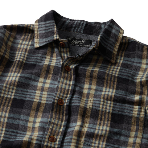 Sonora Light Weight Flannel - Blue Haze Black