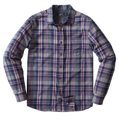 Sonora Light Weight Flannel - Mellow Rose Navy