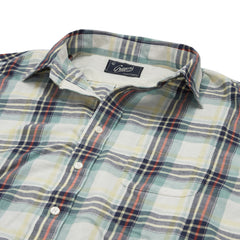 Abaco Cotton Linen Shirt - Reseda Cream Red-Grayers