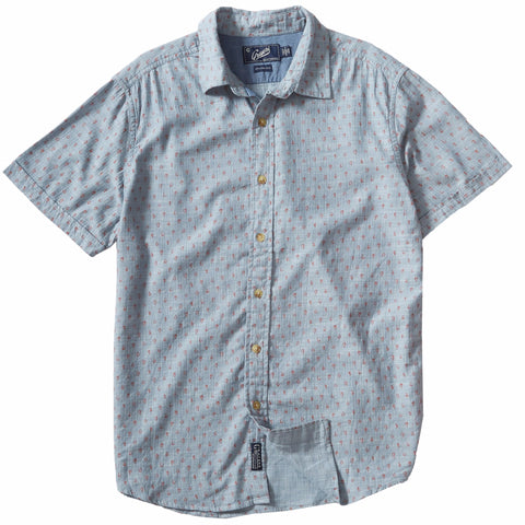 Drayton Printed Chambray Shirt - Cranberry Whisper