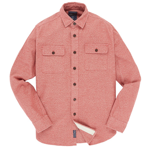 Campbell Heritage Flannel Shirt - Red Cream Jaspe