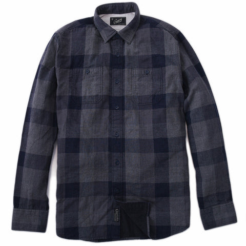 Boy's Compact Chambray Shirt - Green Navy Check