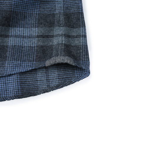 Maunder 3 Ply Jaspe Luxury Flannel - Charcoal Seafoam-Grayers