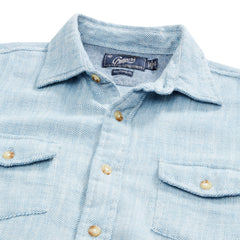 Hopsack Loose Twill Utility Shirt - Blue Heather