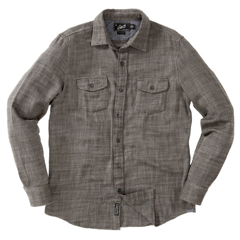 Hopsack Loose Twill Utility Shirt - Charcoal Heather