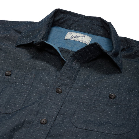 Townsend Dobby Short Sleeve Shirt - Carbon Whisper-Grayers