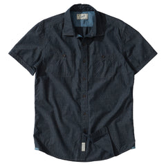 Townsend Dobby Short Sleeve Shirt - Carbon Whisper