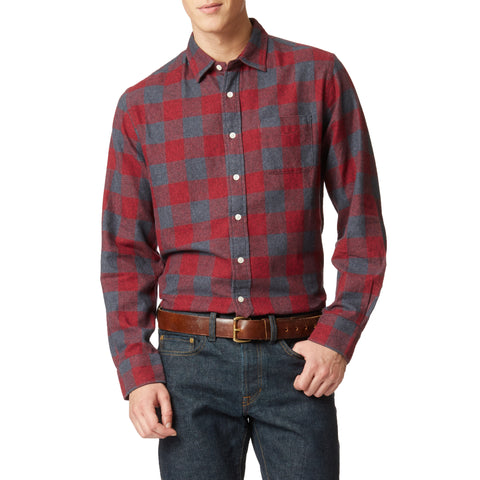 Jaspe Lux Flannel Shirt - Red Buffalo Check