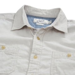 Hayes Brushed Cordies Shirt - Blanc de Blanc