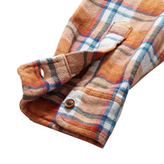 Ridgway 3 Ply Jaspe - Saddle Cream Plaid